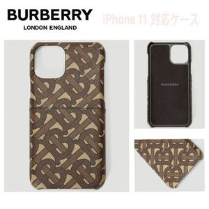 先取SALE★ロゴ【送込 Burberry】iphone 11★TB Monogram茶