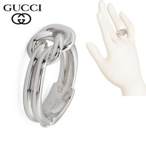 特別価格!GUCCI Sterling Silver Piccolo Knot Ring