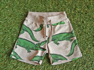 2015SS【mini rodini】  CROCODILE AOP SHORTS ワニパンツ