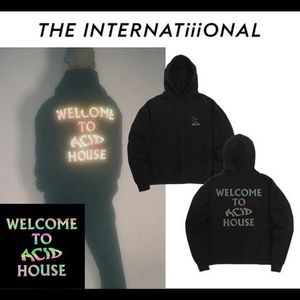 韓国発 THE INTERNATiiiONAL★ACID Trippy Reflective Hoodie