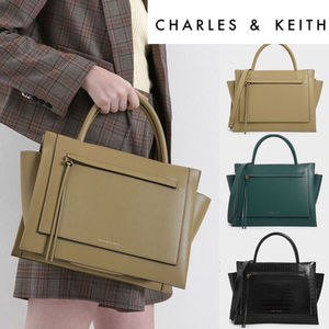 Charles&Keithラージトラペーズバッグ/Large Top Handle Trapeze