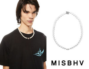 【MISBHV】ミスビへイブ M White Pearl Necklace Long NEW