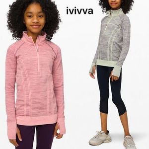ivivva☆シームレス プルオーバー☆The Fastest Zip Pullover