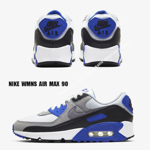 NIKE★WMNS AIR MAX 90★WHITE/PARTICLE GREY/HYPER ROYAL/BLACK