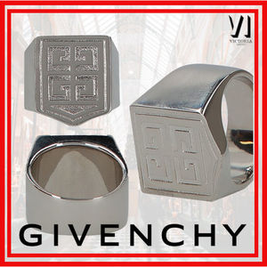 20SS新作 VIP◆GIVENCHY ロゴ  真鍮 4G シグネット リング