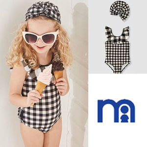mothercare☆9-24M☆GINGHAM SWIMSUIT&HAT2点セット☆
