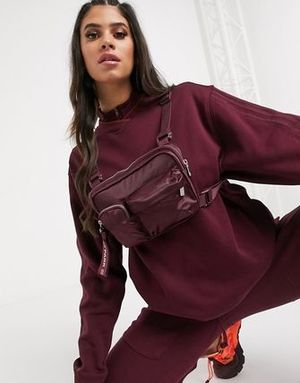 追跡有り★adidas Ivy Park Harness Bag Maroon/Solar Orange