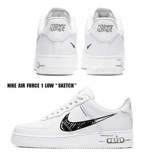 NIKE★AIR FORCE 1 LOW SKETCH★WHITE/BLACK