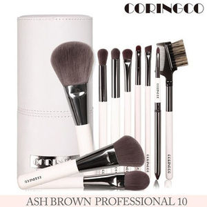 CORINGCO■ASH BROWN PROFESSIONAL10 メイクアップブラシ10本set