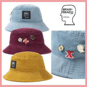 ☆送料関税込☆BRAIN DEAD CORDUROY BUCKET HAT 3colors ロゴ付