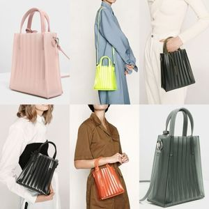 ★Charles&Keith★Translucent Pleated Tote Bag★