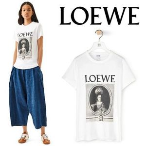 LOEWE 新作 T-Shirt Loewe Portrait White/Brown