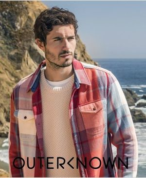 OuterKnown BLANKET RH取扱 レッドチェック柄 シャツ