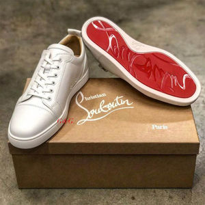 定番【Christian Louboutin】Louis Junior レザースニーカー