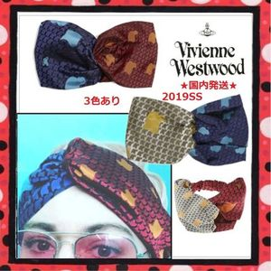 19SS★国内発送 Vivienne Westwood リップ柄 シルクヘッドバンド
