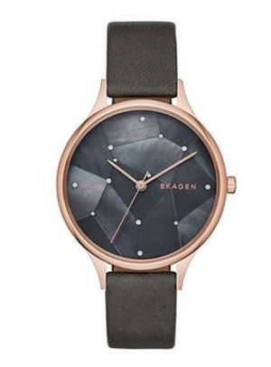 ConstellationMosaicCrystal StainlessLeather Watch SKW2390