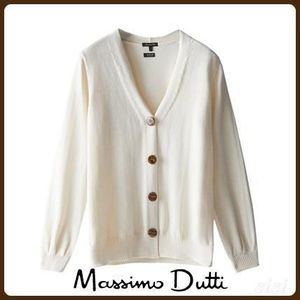 MassimoDutti♪CARDIGAN WITH PUFF SLEEVES