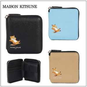【MAISON KITSUNE】20SS SQUARE CHILLAX FOX ZIPウォレット