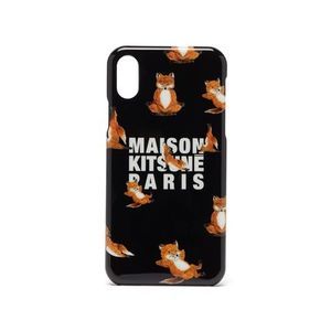 即配★MAISON KITSUNE IPHONE X/Xs CASE YOGA FOX ブラック