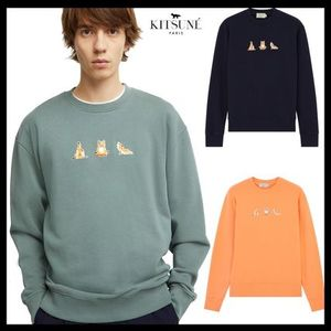 【MAISON KITSUNE】刺繍がオシャレ!YOGA FOX PATCHES SWEATSHIRT