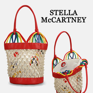 【STELLA McCARTNEY】大人もOK!Hearts Embroidery Bucketバッグ