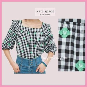 【kate spade】可愛いギンガム柄☆gingham voile top