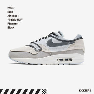 "人気話題!Nike Air Max 1 ""Inside-Out"" Phantom Black"