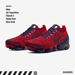 人気話題!Nike Air VaporMax Flyknit 3 Noble Red Blue Void