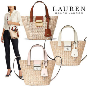 【Ralph Lauren】Straw Mini Reese Tote 2WAY/カゴバッグ