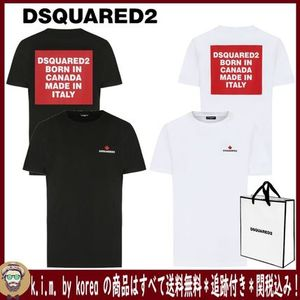追跡★関税★送料込/D SQUARED2/BACK SQUARE  LOGO T-SHIRT