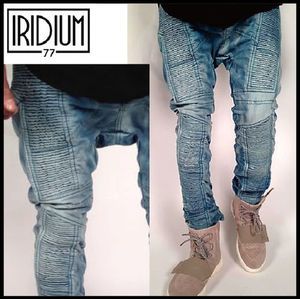 大人気の最新作!! IRIDIUM - On Steel Denim Acid Jeans