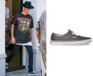 【Justin Bieber着用】Vans Authentic in Pewter