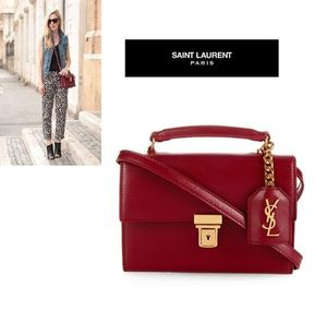 SAINT LAURENT High School mini leather cross-body bag