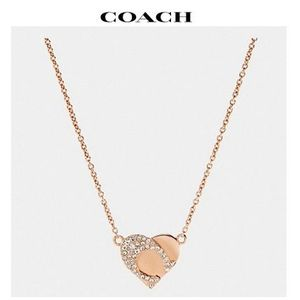 2020 NEW♪ COACH ◆ signature heart necklace