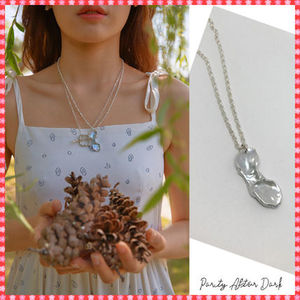 【Party After Dark】Natural Silver Pearl Necklace~ネックレス