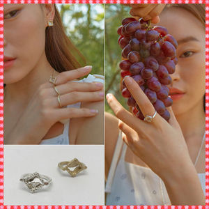 【Party After Dark】Square Ring〜スクエアリング Silver/Gold