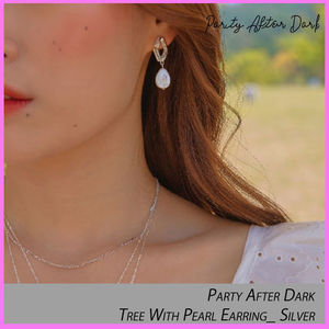 ☆Party After Dark☆Tree With Pearl Earring_ Silver ピアス☆