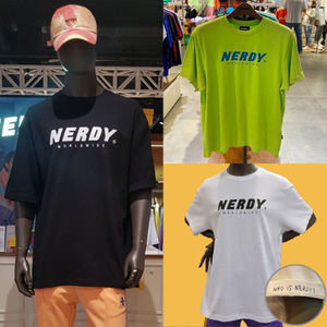 ★NERDY★Tシャツ Basic Big Logo 1/2 Sleeve T-shirt【全3色】