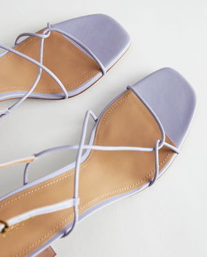 """""""& Other Stories"""" Strappy Leather Heeled Sandal Lilac"""