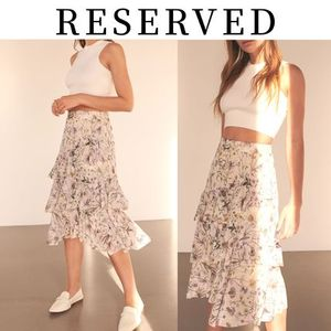 【RESERVED(リザーブド) 】Ladies` Floral Skirt 花柄 スカート