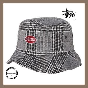 [STUSSY]♠Houndstoothバケットハット
