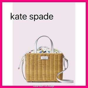 *kate spade*sam wicker lemon zest medium satchel♪