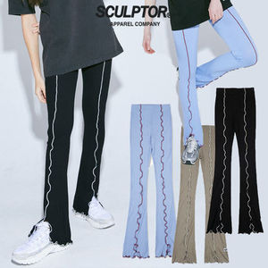 ★SCULPTOR★ 日本未入荷 レギンス Lettuce-Edge Slit Leggings
