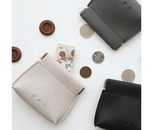 【DECOTONIC】 OBL  Plane leather coin pouch