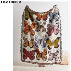 Urban Outfitters/Butterfly reversibleブランケット関送込