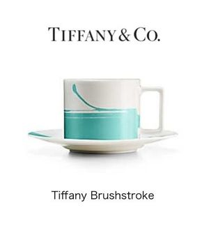 新作未入荷!【Tiffany】Brushstroke Cup and Saucer