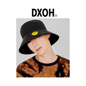 韓国ブランド 秋冬新作 [DXOH] YELLOW SMILE BUCKET HAT BLACK
