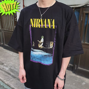 【SONGOD】 NIRVANA Play music Over-fit Tシャツ / unisex