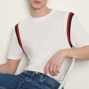 """sandro homme"" Organic cotton T-shirt White"