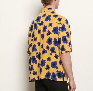 """sandro homme"" SHORT-SLEEVED PRINTED SHIRT YELLOW"